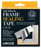 Lineco Self-Adhesive Frame Sealing Tape, Gray