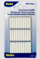 Helix Auto Eraser Refills 5mm 30pack