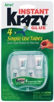Instant Krazy Glue 4 Single-Use Tubes