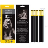 Nitram Soft Round Charcoal Sticks Large - 12mm