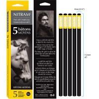 Nitram Soft Round Charcoal Sticks Medium - 8mm