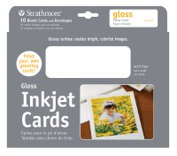 Strathmore Inkjet Cards with Glossy Finish 5x7 10pk