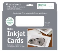 Strathmore Inkjet Cards with Matte Finish 5x7 10pk