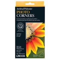 Lineco Archival Polyester Photo Corners 1/2""
