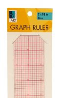 Art Alternatives Graph Ruler 8ths 2x18