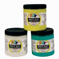 Speedball Fabric Printing NIGHT GLO Ink Yellow 8oz