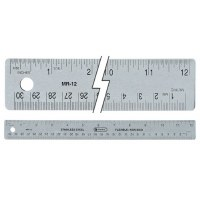 "C-Thru 12"" Flexible Cork-Backed Ruler"