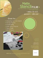 Grafix Matte Stencil Film 9x12, 4 sheets