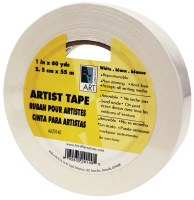 "Art Alternatives White Artists Tape 1/4""x60 yds."