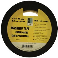 Art Alternatives Black Masking Tape 1in.x60yds