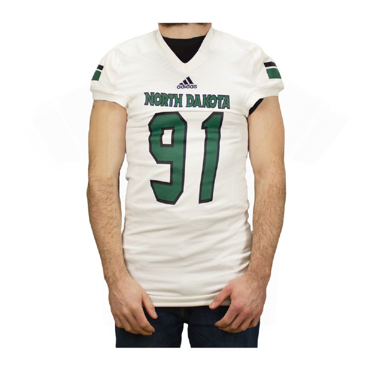 UNIVERSITY OF NORTH DAKOTA FOOTBAL GAME WORN JERSEY