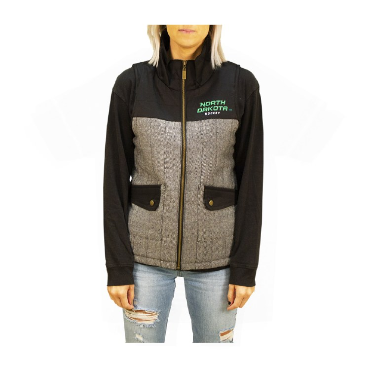 UNIVERSITY OF NORTH DAKOTA HOCKEY HERRINGBONE WOMENS VEST