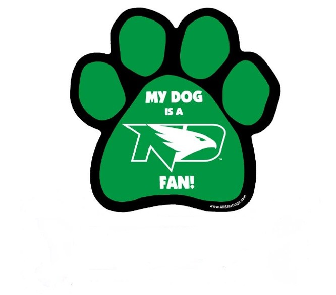 UND FIGHTING HAWKS PAW MAGNET