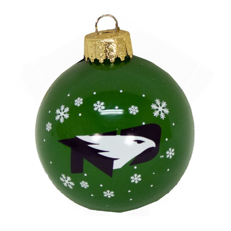 UNIVERSITY OF NORTH DAKOTA 2019 GLASS BALL ORNAMENT