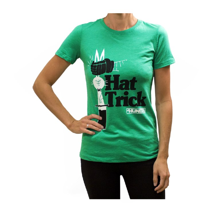LADIES HAT TRICK TEE