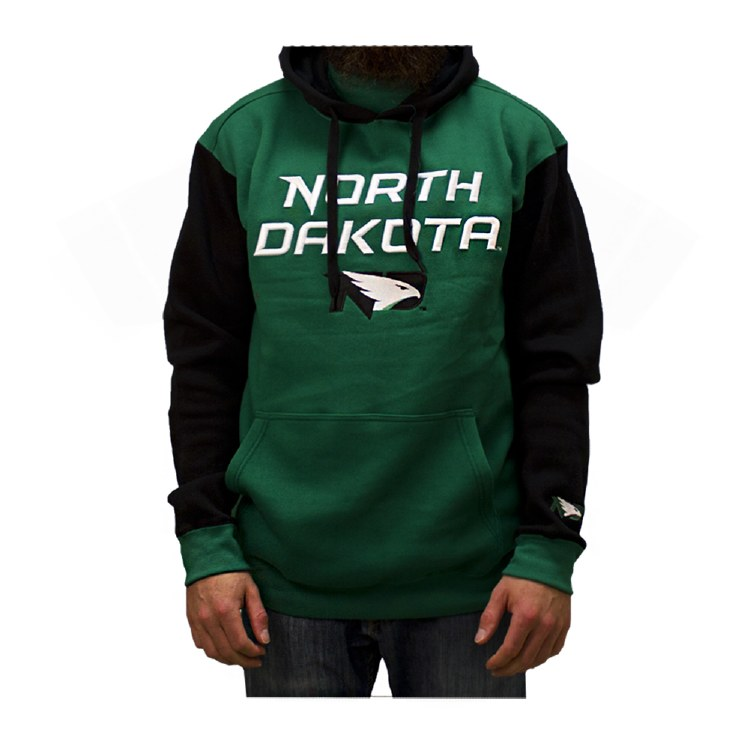 UNIVERSITY OF NORTH DAKOTA FIGHTING HAWKS CONTRAST SLEEVE HOODIE