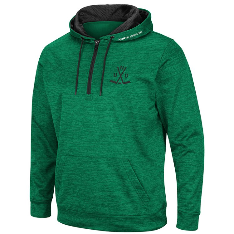 NORTH DAKOTA HOCKEY WONDER MARLED 1/4 ZIP HOOD