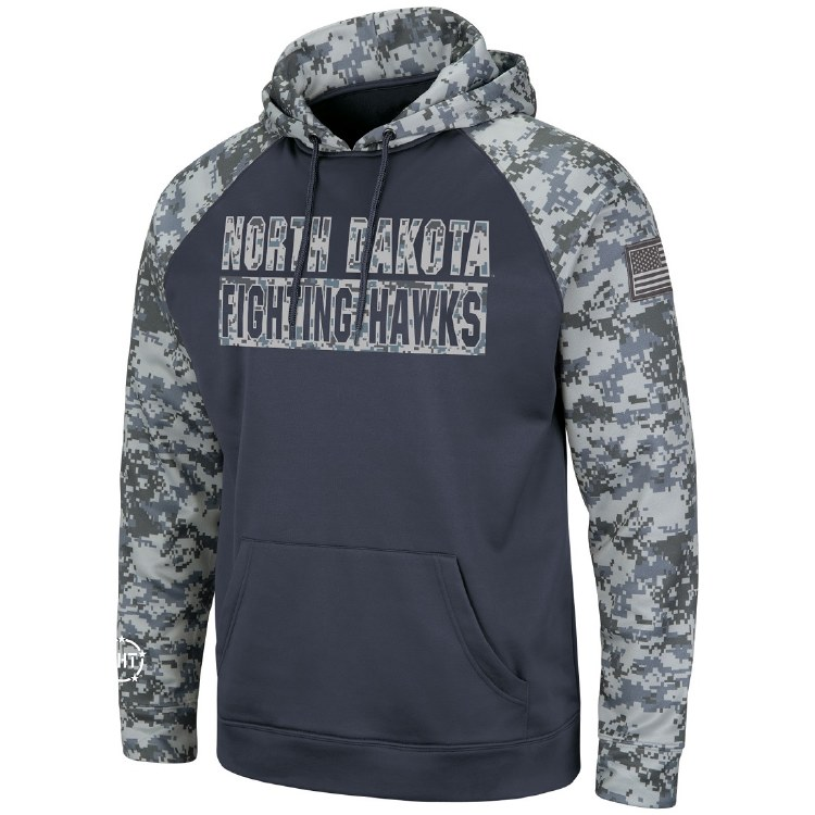 UNIVERSITY OF NORTH DAKOTA FIGHTING HAWKS DIGI CAMO HOOD