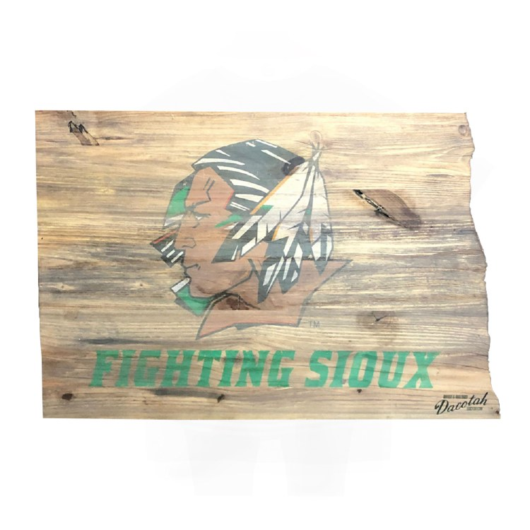 UNIVERSITY OF NORTH DAKOTA FIGHTING SIOUX ON STATE
