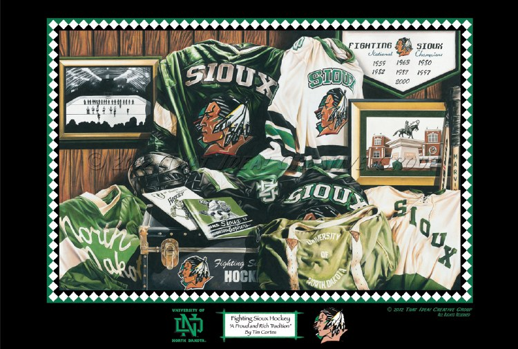 SIOUX HOCKEY PRINT REGULAR