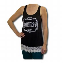 UNIVERSITY OF NORTH DAKOTA LACE CROCHET TANK