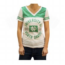 UNIVERSITY OF NORTH DAKOTA LADIES BOLD GLITTER TEE