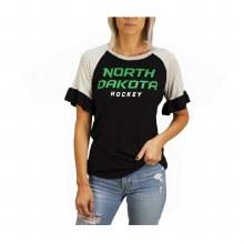 UNIVERSITY OF NORTH DAKOTA HOCKEY LINE RUFFLE TOP