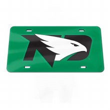 UNIVERSITY OF NORTH DAKOTA FIGHTING HAWKS ACRYLIC MIRROR LICENSE PLATE