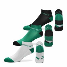 UNIVERSITY OF NORTH DAKOTA FIGHTING HAWKS 3 PACK NO SHOW SOCK