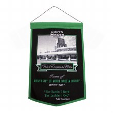RALPH ENGELSTAD ARENA HOME OF NORTH DAKOTA HOCKEY CUSTOM PREMIUM BANNER