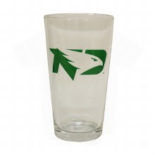16OZ UNIVERSITY OF NORTH DAKOTA FIGHTING HAWKS GLASS