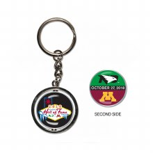 2018 HALL OF FAME GAME SPINNER KEYCHAIN