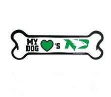 UND FIGHTING HAWKS BONE MAGNET