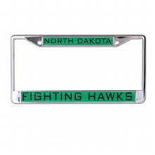 UNIVERSITY OF NORTH DAKOTA FIGHTING HAWKS METAL LICENSE PLATE FRAME