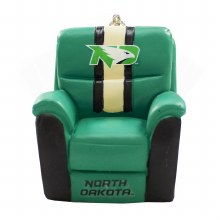 UNIVERSITY OF NORTH DAKOTA RECLINING CHAIR ORNAMENT