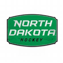 NORTH DAKOTA HOCKEY HARDBOARD WOOD SIGN