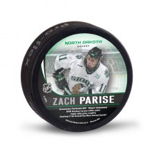UNIVERSITY OF NORTH DAKOTA HOCKEY ZACH PARISE ALUMNI PUCK