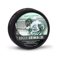 UNIVERSITY OF NORTH DAKOTA HOCKEY ROCCO GRIMALDI ALUMNI PUCK