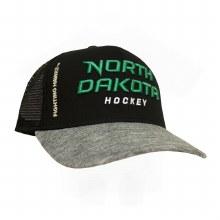 UNIVERSITY OF NORTH DAKOTA HOCKEY MESH CHROME HAT