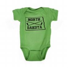 NORTH DAKOTA STICKS & STATE ONESIE