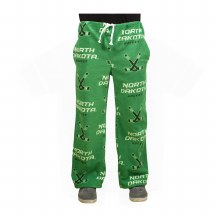 UNIVERSITY OF NORTH DAKOTA HOCKEY FLEECE GRANDMA PANTS