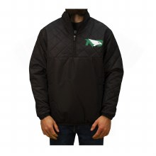 UNIVERSITY OF NORTH DAKOTA FIGHTING HAWKS CLIMA 1/4 ZIP PULLOVER COACHES JACKET