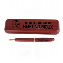 UNIVERSITY OF NORTH DAKOTA FIGHTING SIOUX WOOD PEN & BOX SET