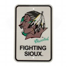 UNIVERSITY OF NORTH DAKOTA FIGHTING SIOUX REFLECTIVE STREET SIGN