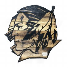 UNIVERSITY OF NORTH DAKOTA FIGHTING SIOUX RECLAIMED WOOD LOGO