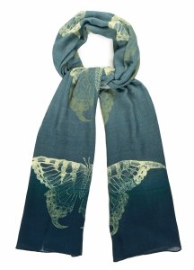 Swallowtail Butterfly Scarf (Blue)