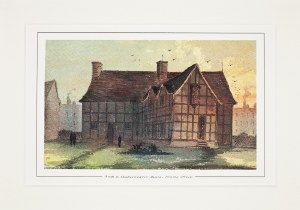 Paul Braddon Mounted Print - The Back of Shakespeare's Birthplace