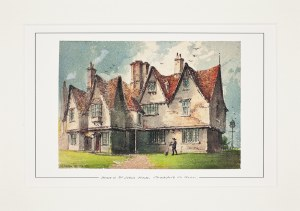 Paul Braddon Mounted Print of Halls Croft