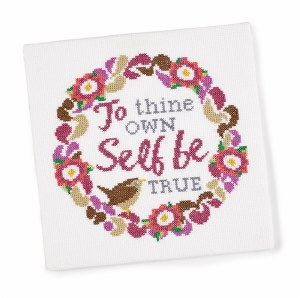 Cross Stitch - 'To thine own self be true'