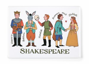 Shakespeare Characters Magnet